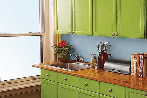 Как обновить деревянный кухонный гарнитур своими руками