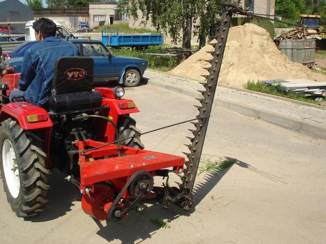 Как сделать косилку на трактор