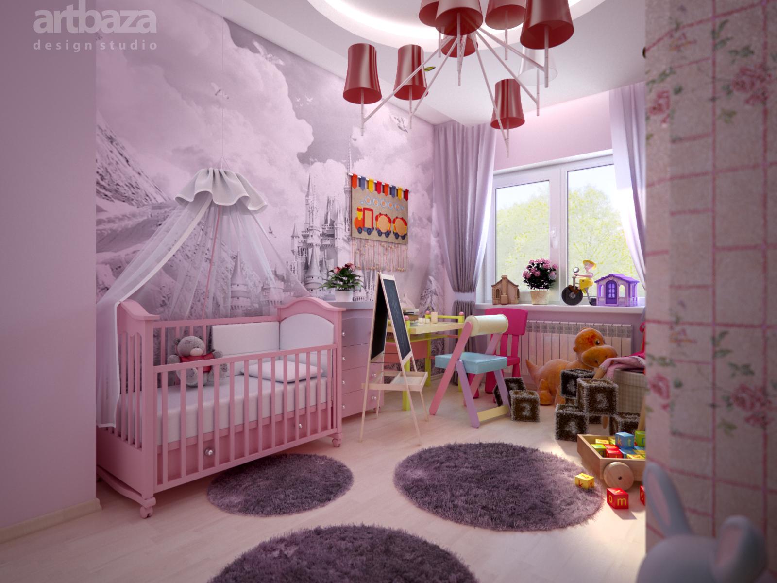 Дизайн комнат игры для девочек