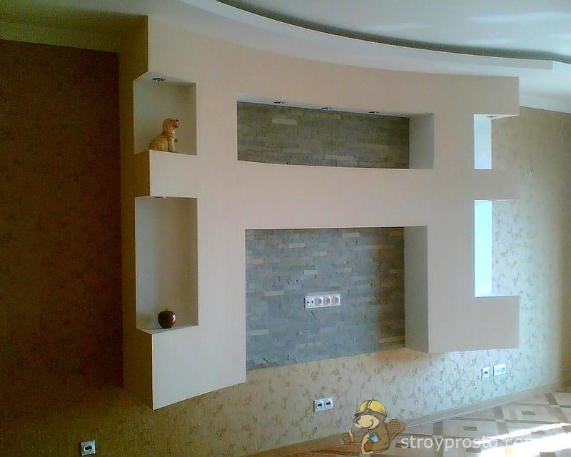 Гипсокартонные декоративные стены своими руками
