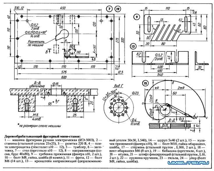 Схемы самодельных фрезерных станков