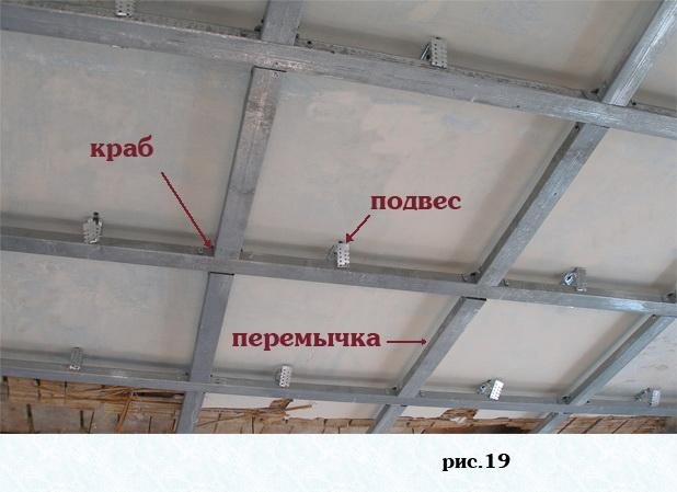 Монтаж гипсокартона на потолке своими руками фото