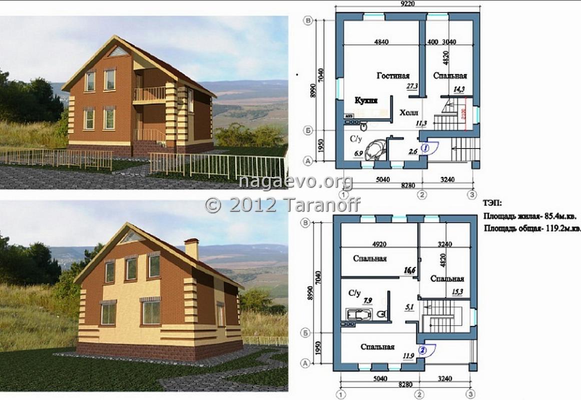 Схема дома из кирпича фото 144