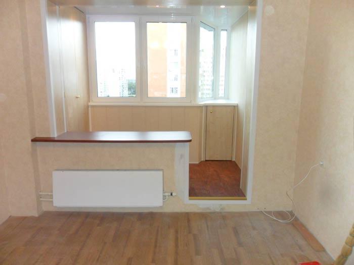 Объединения балкона с комнатой - современной решение проб....