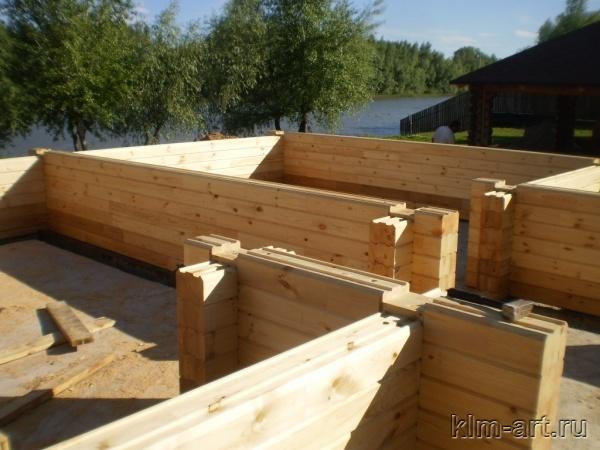 Постройка дома из клееного бруса своими руками