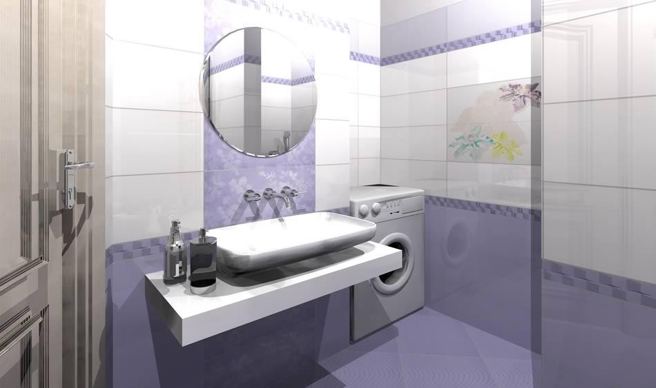 Дизайн кафельной плиткой в ванной комнате
