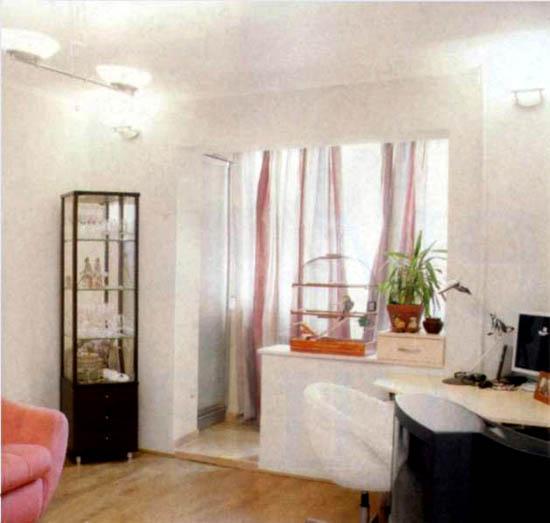 Лоджия совмещенная с комнатой 83 серия фото. - окна онлайн -.