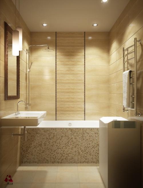 фото дизайн плитки маленькой ванной