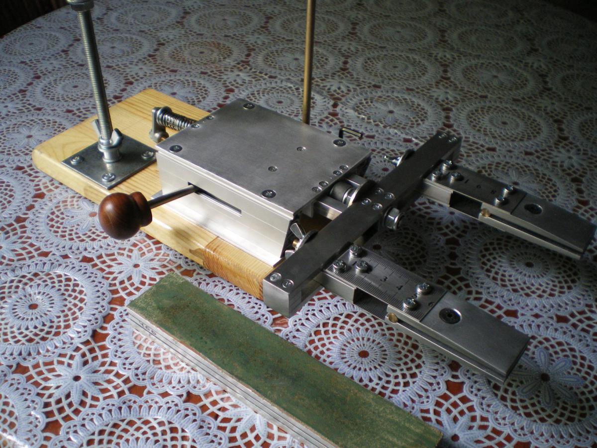 Приспособление для заточки ножей до станка своими руками