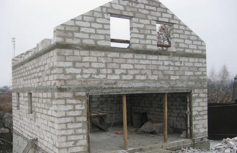 Дома из блоков своими руками фото