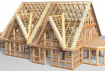 Каркасные дома своими руками. Утепление каркасного дома своими руками. Сборка стропильного каркаса крыши.