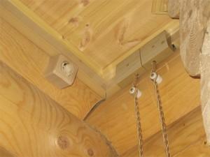 Проводка деревянном доме своими руками