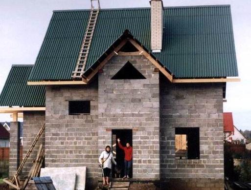 Дом из керамзитоблока своими руками