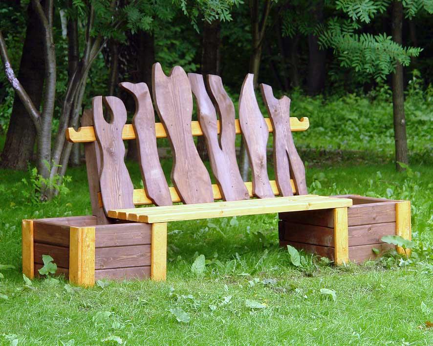Как сделать скамейку для сада своими руками фото