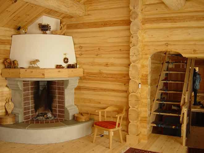 Печи камина в деревянном доме своими руками