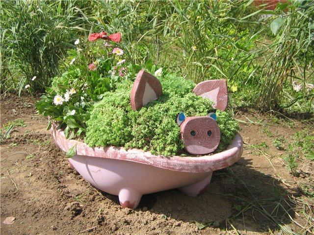 Мой декор для сада из пластиковых